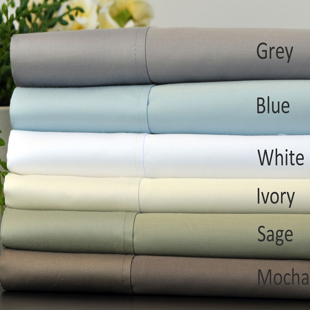 Pima Cotton 750 Thread Count Solid Luxury Sheet Set