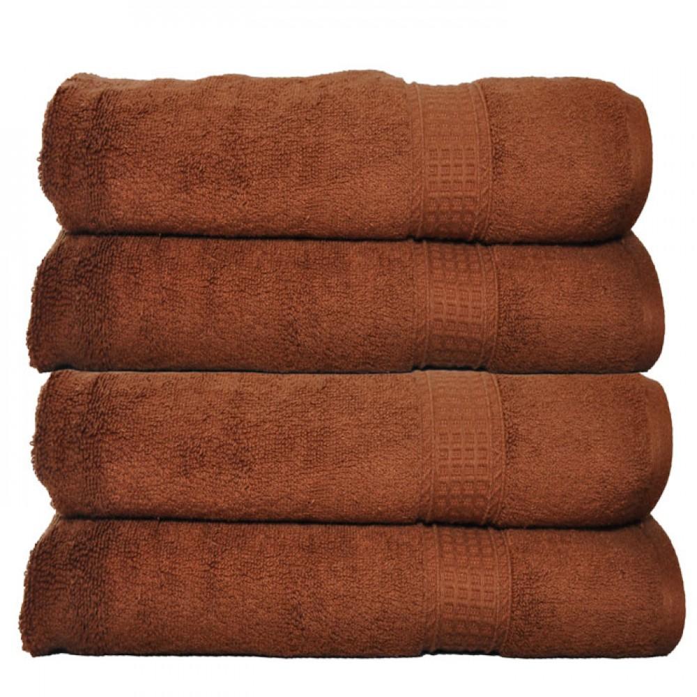 Luxury 650 Gram Cotton Bath Towel Chocolate Set Of 2