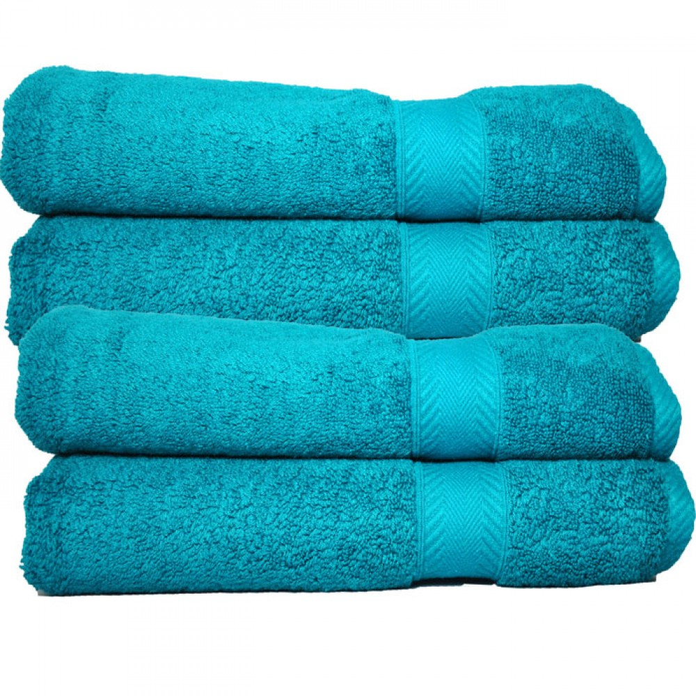 Luxury 650 Gram Cotton Bath Towel Turquoise Set Of 2